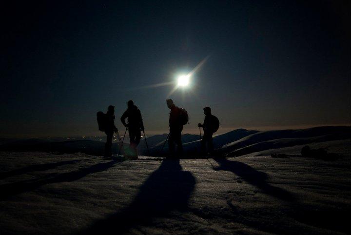 Senderismo en Peñalara a la Luz de la Luna