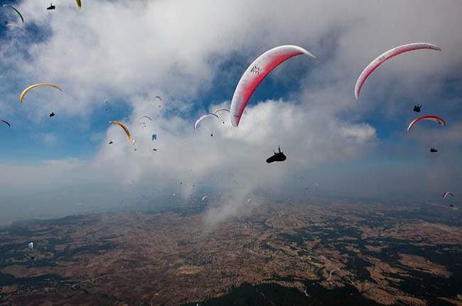 parapente paisajístico-Actividades deportivas-Central de Reservas Sierra de Guadarrama