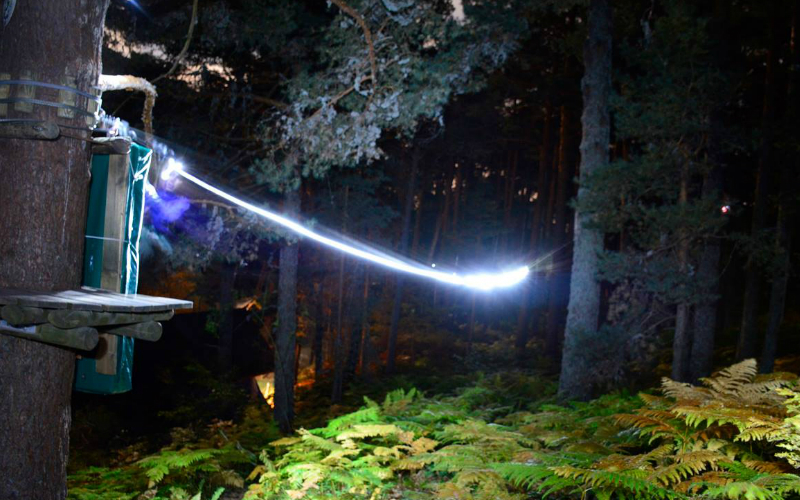 Tirolinas nocturnas Sierra