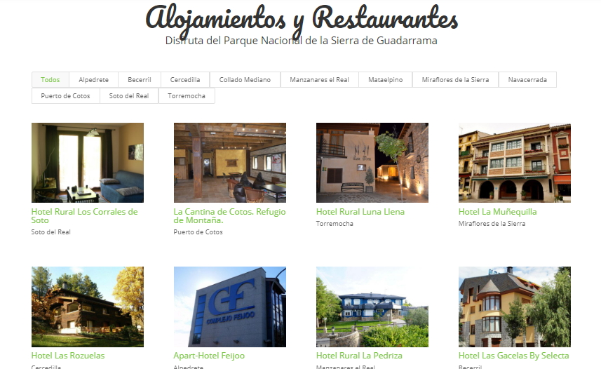 Restaurantes Sierra Madrid