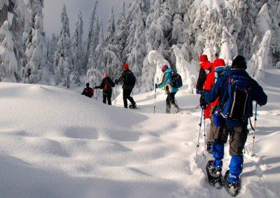 raquetas de nieve en navacerrada