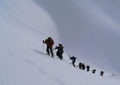 raquetas de nieve sierra de guadarrama