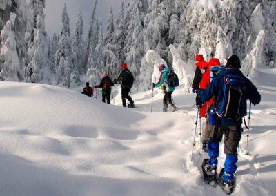 raquetas de nieve y spa en la sierra