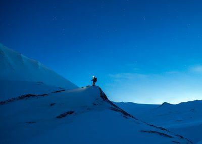 raquetas nieve nocturnas
