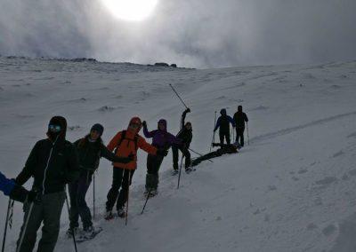 raquetas nieve sierra guadarrama