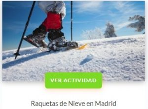 Raquetas de nieve Madrid - Central de Reservas Sierra del Guadarama