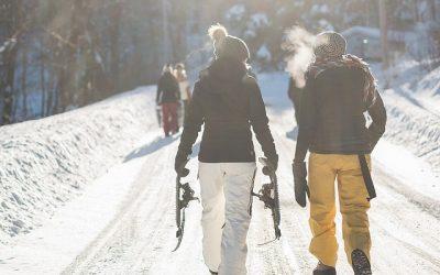 Ven a probar las raquetas de nieve. Repetirás una y otra vez.