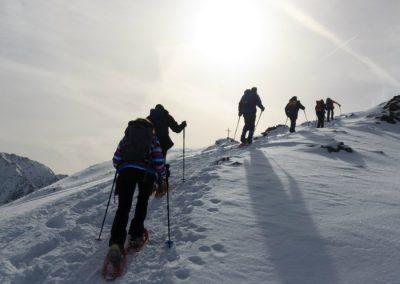 Raquetas de nieve en Navafría