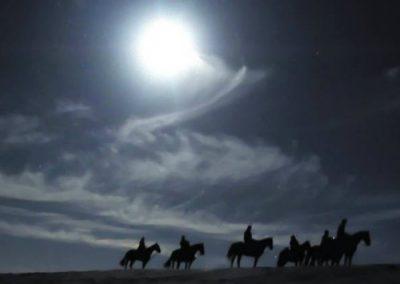 rutas nocturnas a caballo en la Sierra