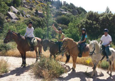 actividades con caballos en la Sierra
