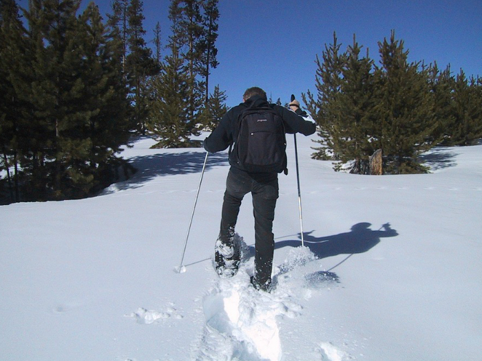 raquetas nieve  CotosSierra de Guadarrama