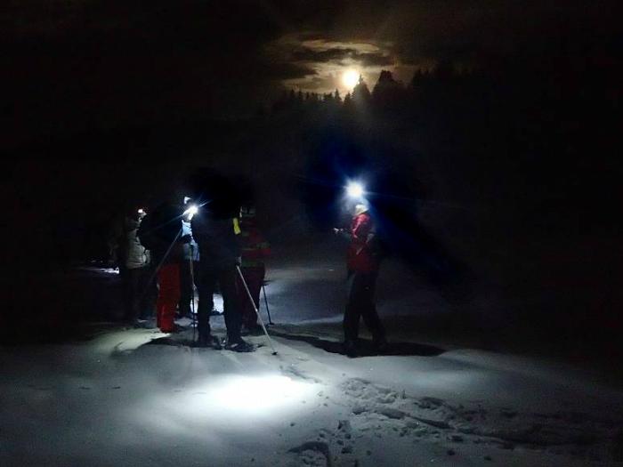 Raquetas de Nieve a la Luz de la Luna Sierra Madrid