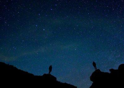 ver estrellas en la sierra