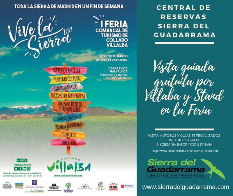 Visitas guiadas gratuitas en Collado Villalba en Vive la Sierra 2019