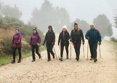 nordic walking en la sierra