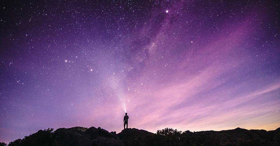 Noches de luna y estrellas en la sierra del guadarrama