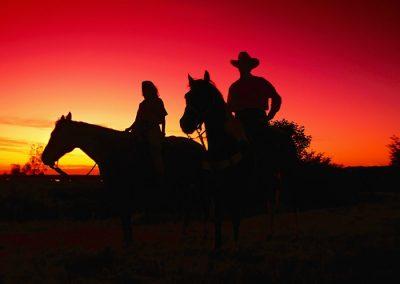Ruta a caballo en Los Molinos noche