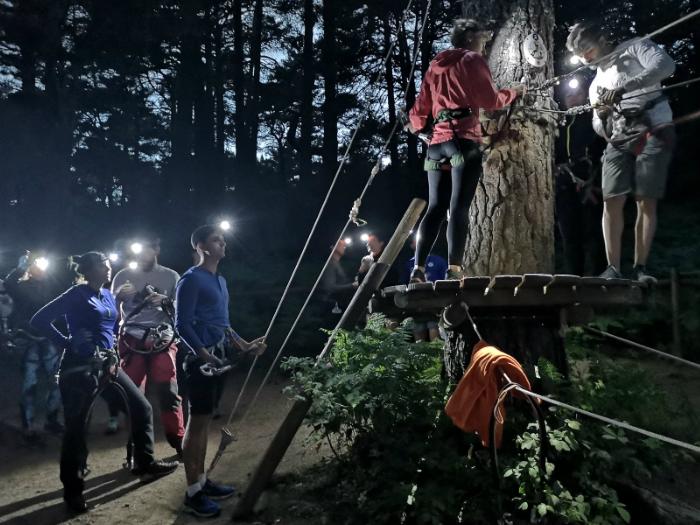 Tirolinas Nocturnas a la Luz de la Luna