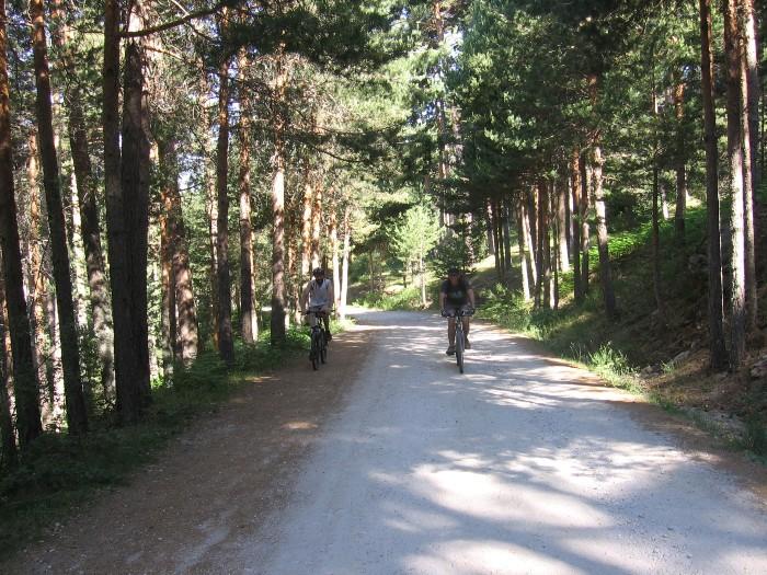 ruta guiada bicicleta sierra