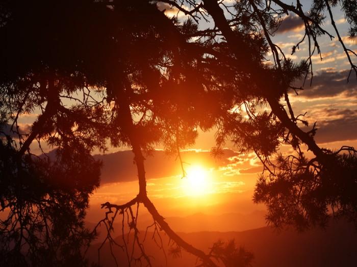 ver el amanecer en el parque nacional