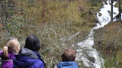 valsain atardecer ruta medioambiental