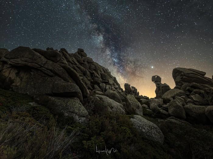 fotografía nocturna valle de la barranca